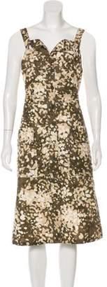 Stella McCartney Printed Sleeveless Midi Dress Green Printed Sleeveless Midi Dress