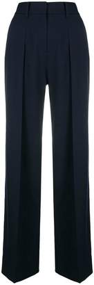 Victoria Beckham Victoria side stripe wide leg trousers