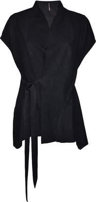 Rick Owens Lilies Tie Leather Jacket