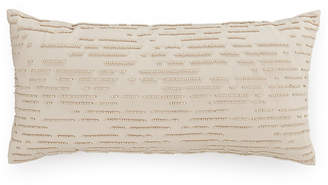 """Hotel Collection CLOSEOUT! Modern Eyelet Beaded 10"""" x 20"""" Decorative Pillow, Created for Macy's"""