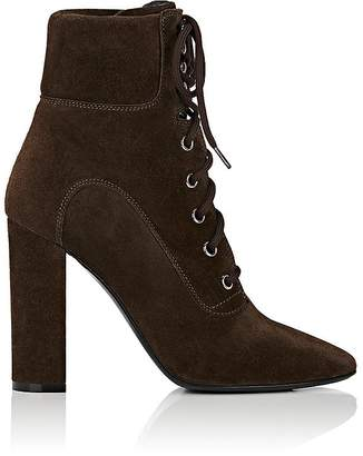 Barneys New York Women's Suede Lace-Up Ankle Boots