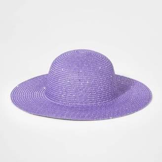 Cat & Jack Girls' Floppy Hat Purple One Size