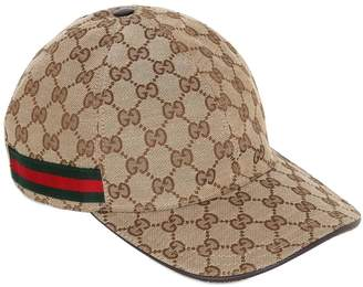 0a59fb401a9 Gucci Gg Supreme Logo Canvas Baseball Hat