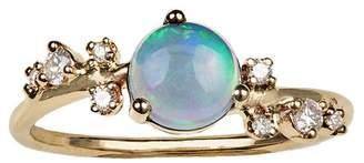 WWAKE Large Organic Crossover Opal & Diamond Ring