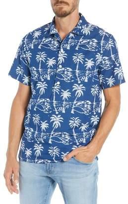 J.Crew J. Crew Leaf Block Print Regular Fit Sport Shirt