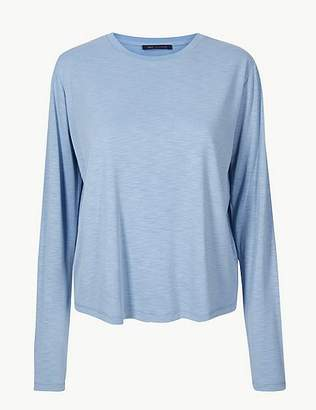 Marks and Spencer Super Soft Round Neck Long Sleeve T-Shirt