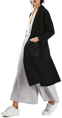 Topshop Satin Pocket Duster Coat $135 thestylecure.com