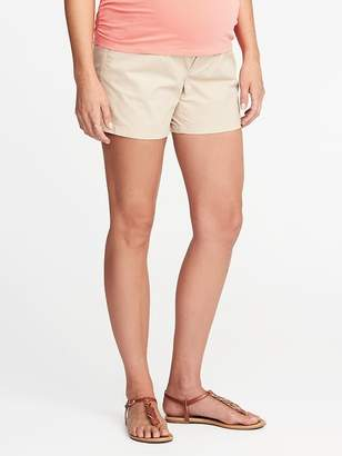"Old Navy Maternity Full-Panel Twill Shorts (5"")"