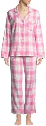BedHead Plaid Flannel Classic Pajama Set with Metallic Detail