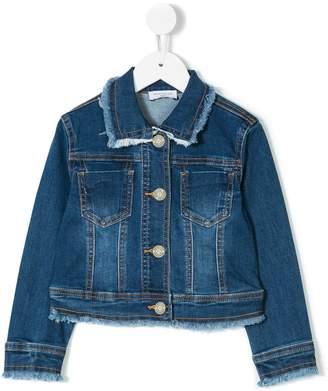 MonnaLisa frayed denim jacket