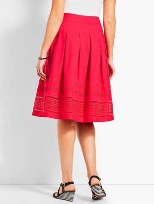Talbots Pleated Fit-And-Flare Poplin Skirt