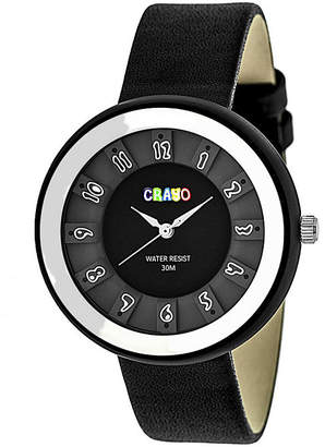 Crayo Unisex Black Strap Watch-Cracr3401