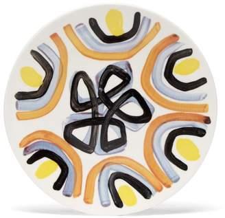 Peter Pilotto Painted Ceramic Dessert Plate - Orange Multi
