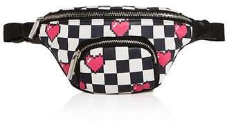 Skinnydip London Heart White Printed Bum Bag - 100% Exclusive