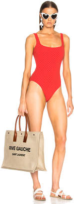 Solid & Striped Daisy Swimsuit