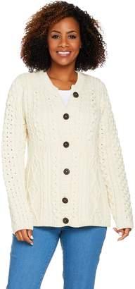 Kilronan Merino Wool Empire Waist Long Sleeve Cardigan