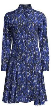 Derek Lam Graphic Print Button-Down Shirtdress
