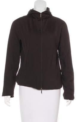 Max Mara 'S Hooded Zip-Up Sweater