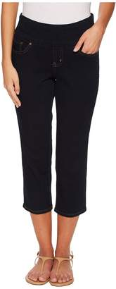 Jag Jeans Petite Petite Peri Straight Pull-On Denim Crop in After Midnight Women's Jeans