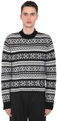 Versace Wool Jacquard Sweater