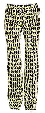 Prada Women's Jacquard Argyle Straight Leg Belted Pants