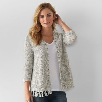 Women's SONOMA Goods for LifeTM Open-Front Tassel Cardigan $44 thestylecure.com