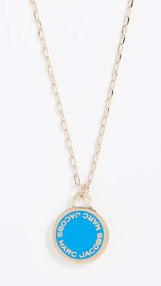 Marc Jacobs Logo Disc Pendant Necklace