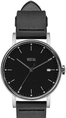 "Vestal Italian Leather Minimalist Watch ""Sophisticate 36"""