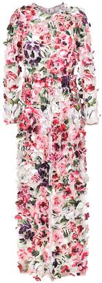 Dolce & Gabbana appliqué floral dress