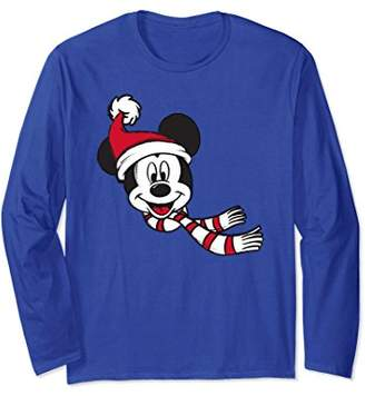 Disney Mickey Mouse Santa Hat 2 Long Sleeve T-shirt