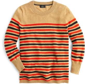 J.Crew Stripe Crewneck Cashmere Sweater