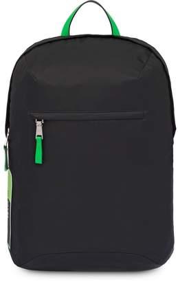 Prada black and green large logo backpack
