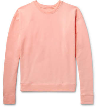 The Elder Statesman Fleece-Back Cotton-Jersey Sweatshirt