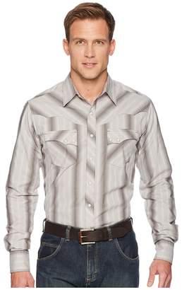Wrangler Retro Premium Long Sleeve Snap Stripe Men's Long Sleeve Button Up