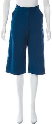 Zac Posen Wide-Leg Cropped Pants