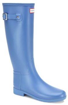 Hunter Original Refined Tall Rubber Rain Boots $165 thestylecure.com