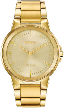 Citizen Eco-Drive Men Axiom Gold-Tone Stainless Steel Bracelet Watch 41mm