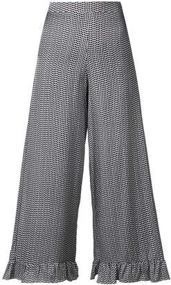 Isa Belle Isabelle Blanche polka dot printed trousers