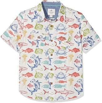 Fat Face Boy's Deep Sea Print Shirt,Years (Size: 12-13)