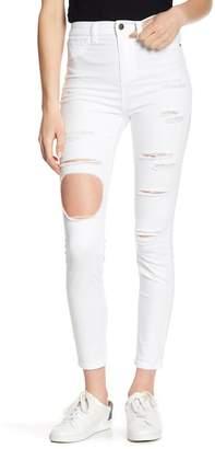 SP Black High Waist Destructed Skinny Jeans
