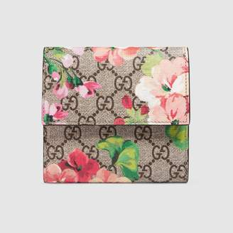 Gucci GG Blooms french flap wallet
