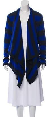 Magaschoni Cashmere Striped Cardigan
