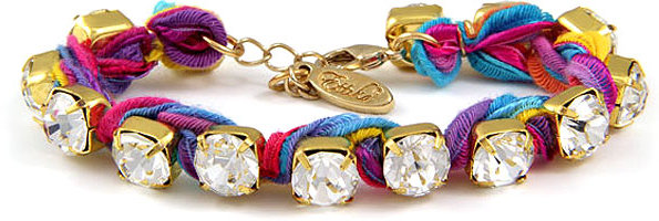 Ettika Vintage Ribbon Tennis Bracelet in Multi Neon Women