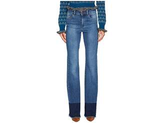 RED Valentino Denim Stretch Stone Washed Resist Dyeing Pants Women's Jeans