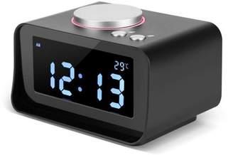 Yosoo Digital LCD Alarm Clock FM Radio with Speaker Function + Dual USB Charging Ports,Alarm Clock, Digital Alarm Clock