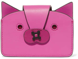Anya Hindmarch Leather Cardholder - Fuchsia
