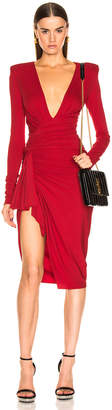 Alexandre Vauthier Jersey Mini Dress in Ruby | FWRD