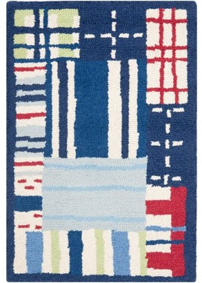 Safavieh Kids Plaid Hand-Tufted Area Rug, Blue/Multi