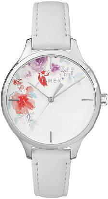 Timex Womens White Strap Watch-Tw2r66800jt