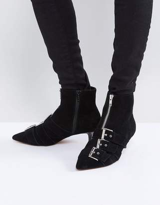 Asos Design REVELATION Suede Heeled Ankle Boots